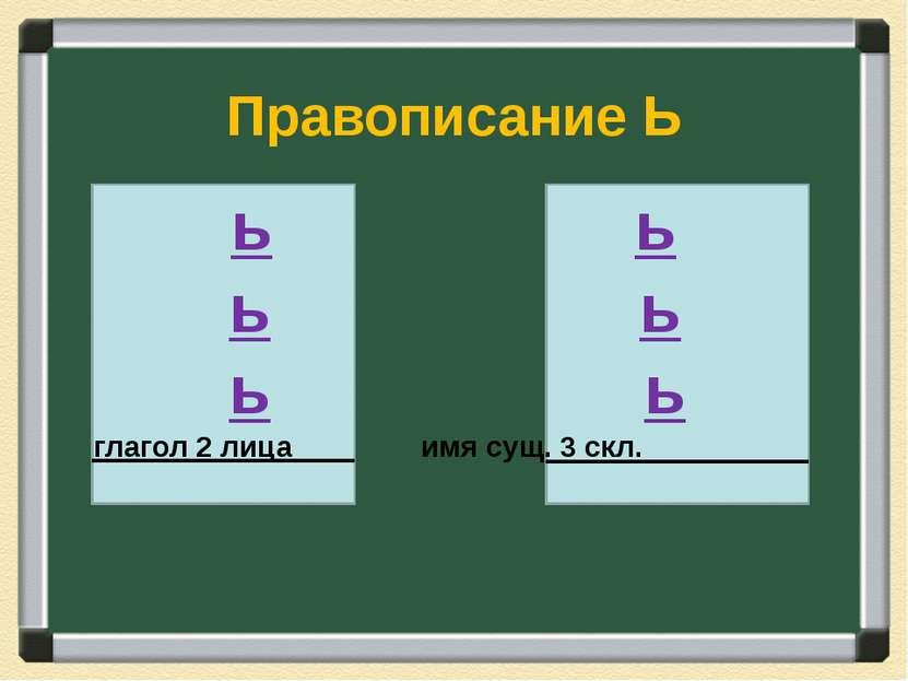 Правописание Ь глагол 2 лица имя сущ. 3 скл. -ишь -ешь -ёшь -чь -жь -шь