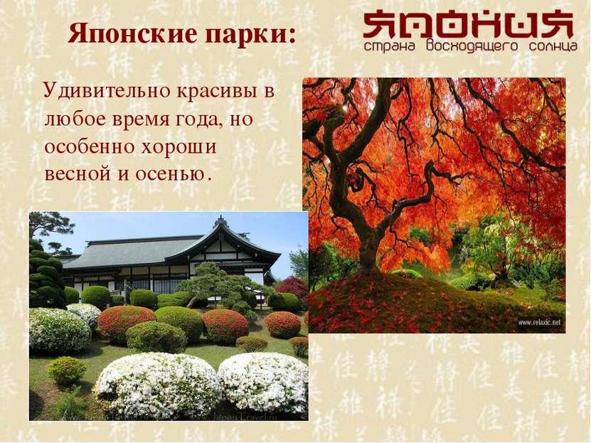 Японские парки: Удивительно красивы в любое время года, но особенно хороши ве...