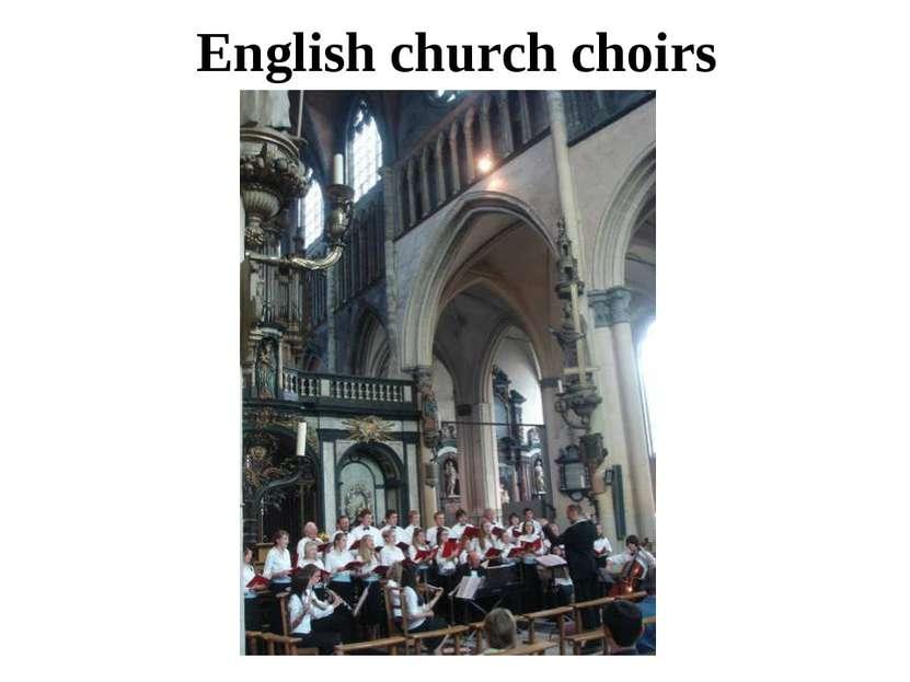 English church choirs