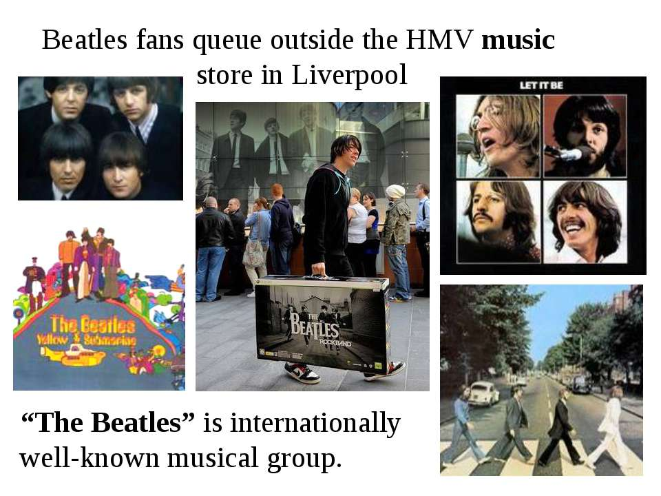 """Beatles fans queue outside the HMV music store in Liverpool """"The Beatles"""" is ..."""