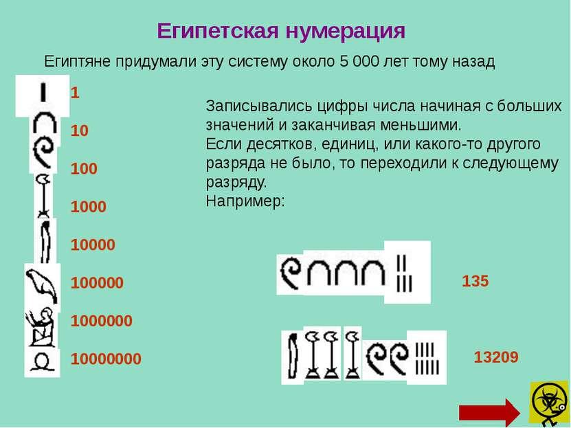 В древнем Вавилоне примерно за 40 веков до нашего времени создалась нумерация...