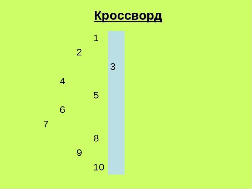 Кроссворд 1 2 3 4 5 6 7 8 9 10