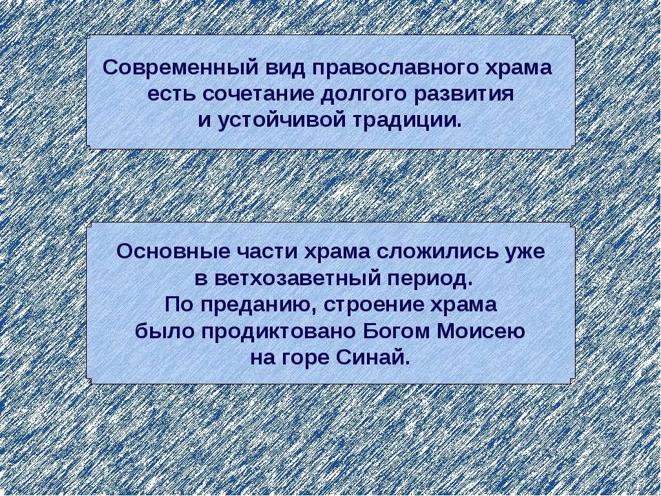 Современный вид православного храма есть сочетание долгого развития и устойчи...