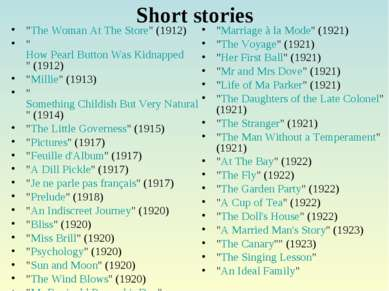 "Short stories ""The Woman At The Store"" (1912) ""How Pearl Button Was Kidnapped..."