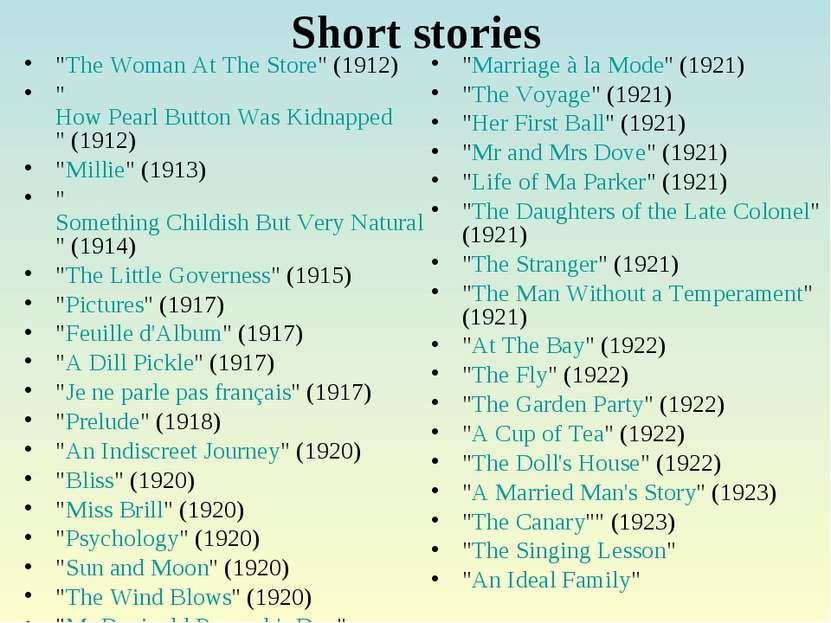 """Short stories """"The Woman At The Store"""" (1912) """"How Pearl Button Was Kidnapped..."""