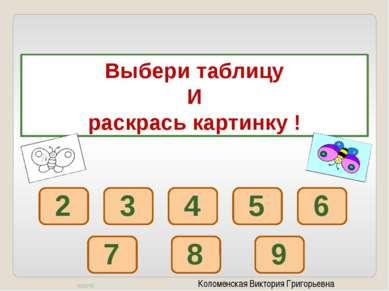 Коломенская Виктория Григорьевна 2 х 2 9 х 2 7 х 2 2 х 5 1 х 2 3 х 2 2 х 4 6 ...