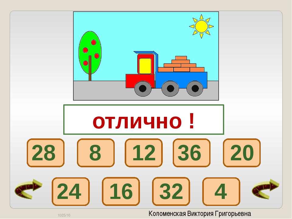 Коломенская Виктория Григорьевна 7 х 2 9 х 7 7 х 7 7 х 5 1 х 7 3 х 7 7 х 4 6 ...