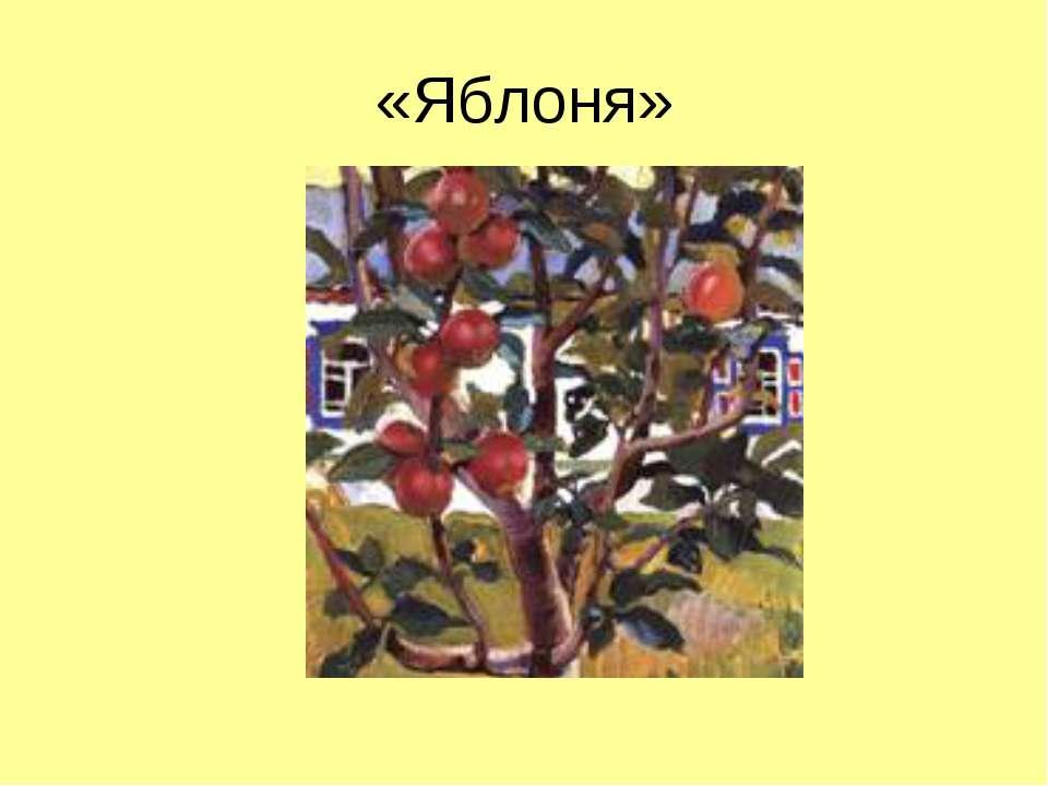 «Яблоня»
