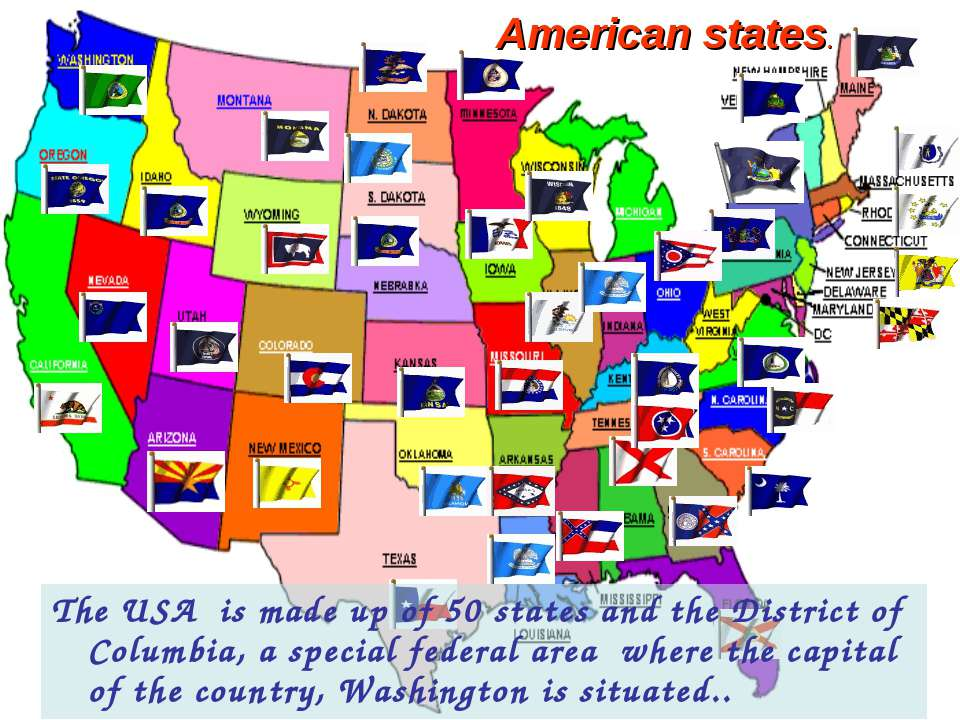 The USA is made up of 50 states and the District of Columbia, a special feder...