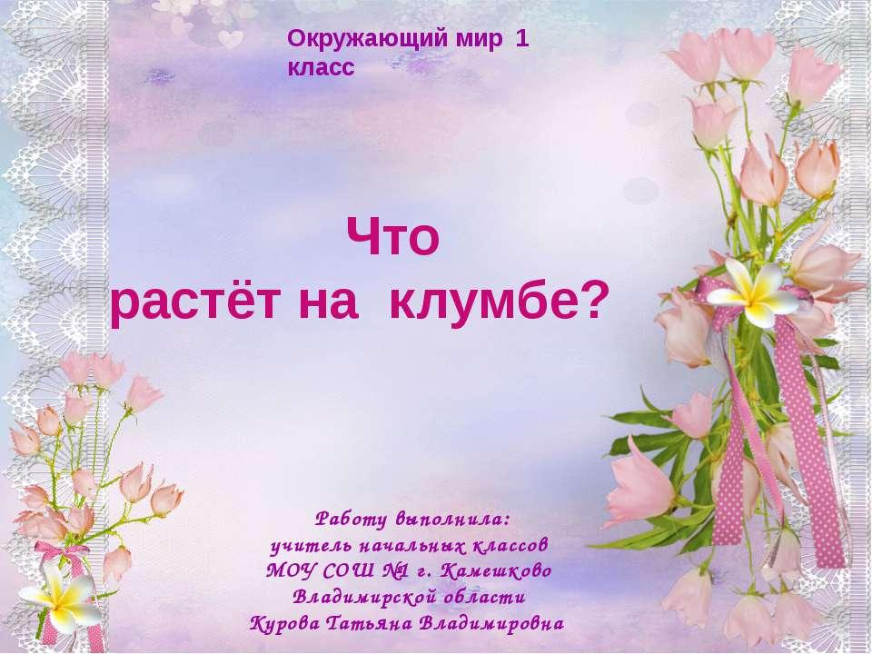 Ребята! Чтобы рассмотреть цветы, которые растут на клумбах, щелкните по цветк...