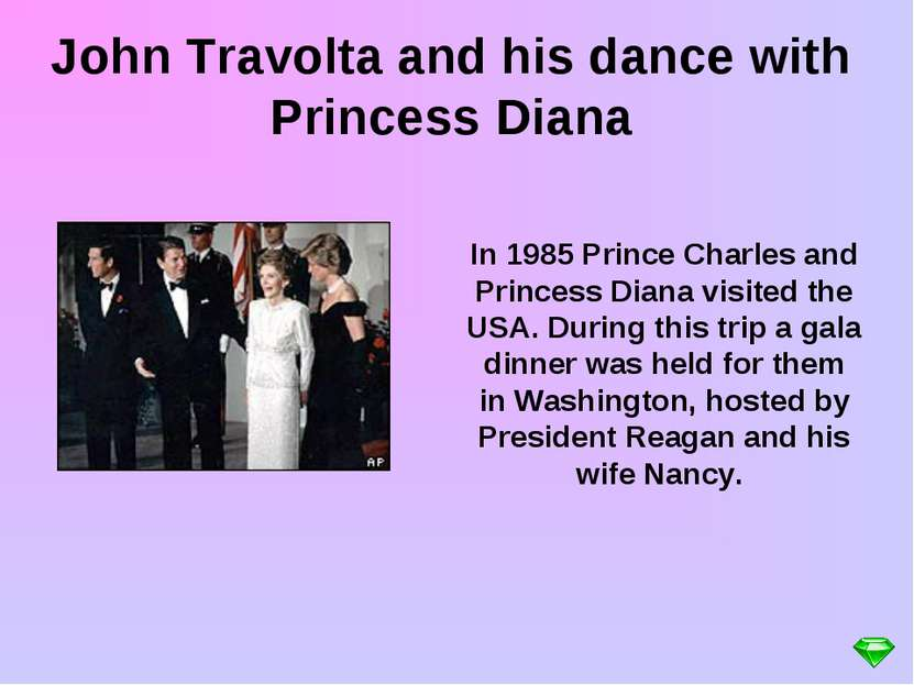 In 1985 Prince Charles and Princess Diana visited the USA. During this trip a...