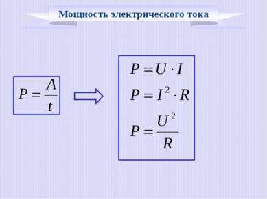 Мощность электрического тока