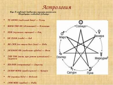 Астрология Еще в глубокой древности шумеры различали двенадцать созвездий Зод...