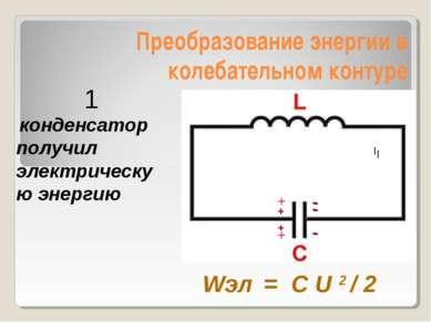Преобразование энергии в колебательном контуре - конденсатор получил электрич...