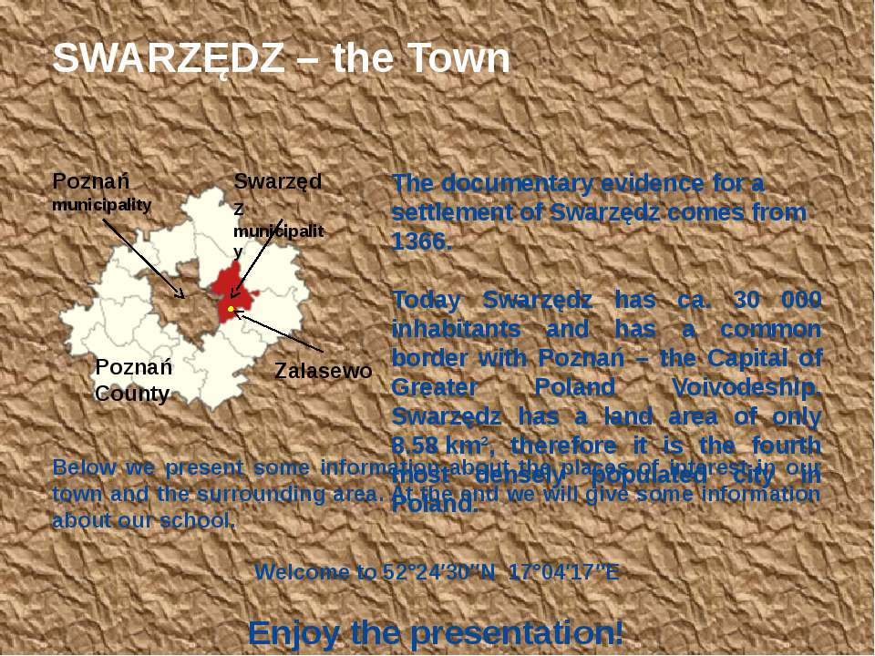 The documentary evidence for a settlement of Swarzędz comes from 1366. Today ...