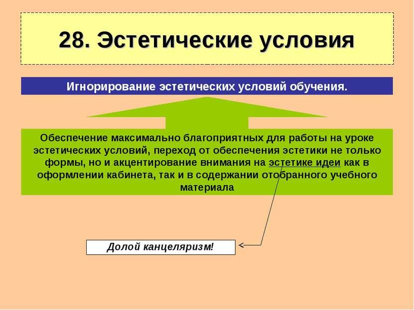 28. Эстетические условия Обеспечение максимально благоприятных для работы на ...