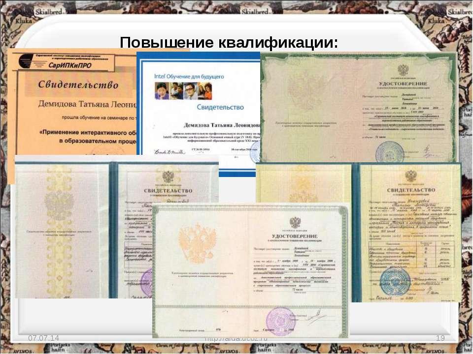 * http://aida.ucoz.ru * Повышение квалификации: http://aida.ucoz.ru