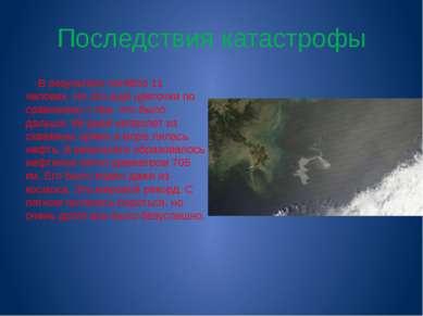 Последствия катастрофы В результате погибло 11 человек. Но это ещё цветочки п...