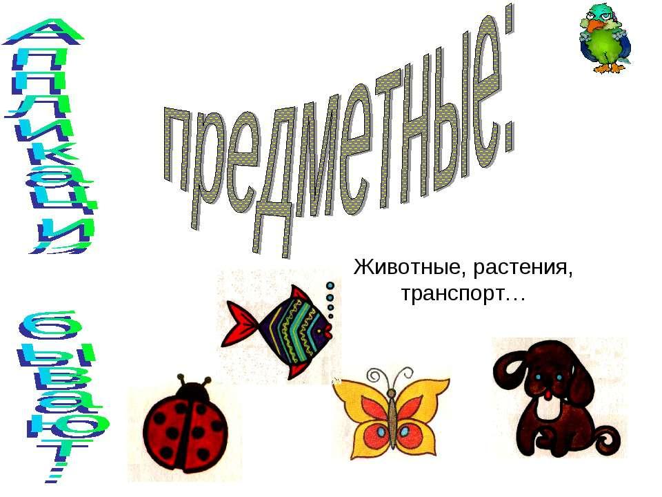 Животные, растения, транспорт…