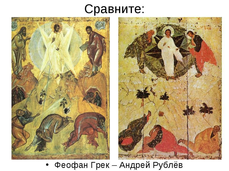 Сравните: Феофан Грек – Андрей Рублёв