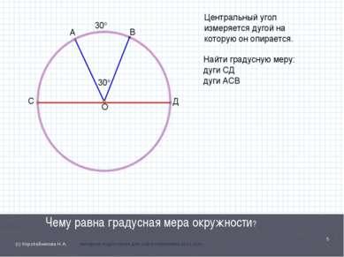 Чему равна градусная мера окружности? * (с) Коробейникова Н.А. материал подго...
