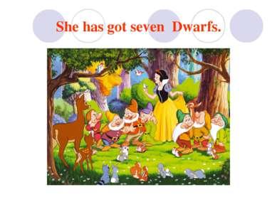 She has got seven Dwarfs.
