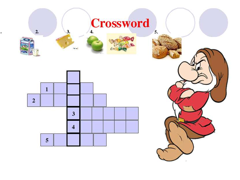 Crossword 1. 2. 3. 4. 5 5. 4 3 1 2 5
