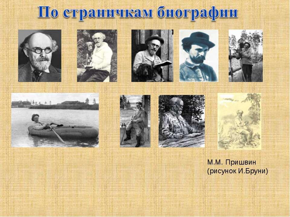 М.М. Пришвин (рисунок И.Бруни)