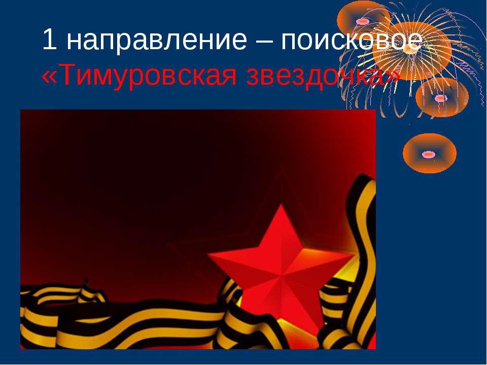 1 направление – поисковое «Тимуровская звездочка»