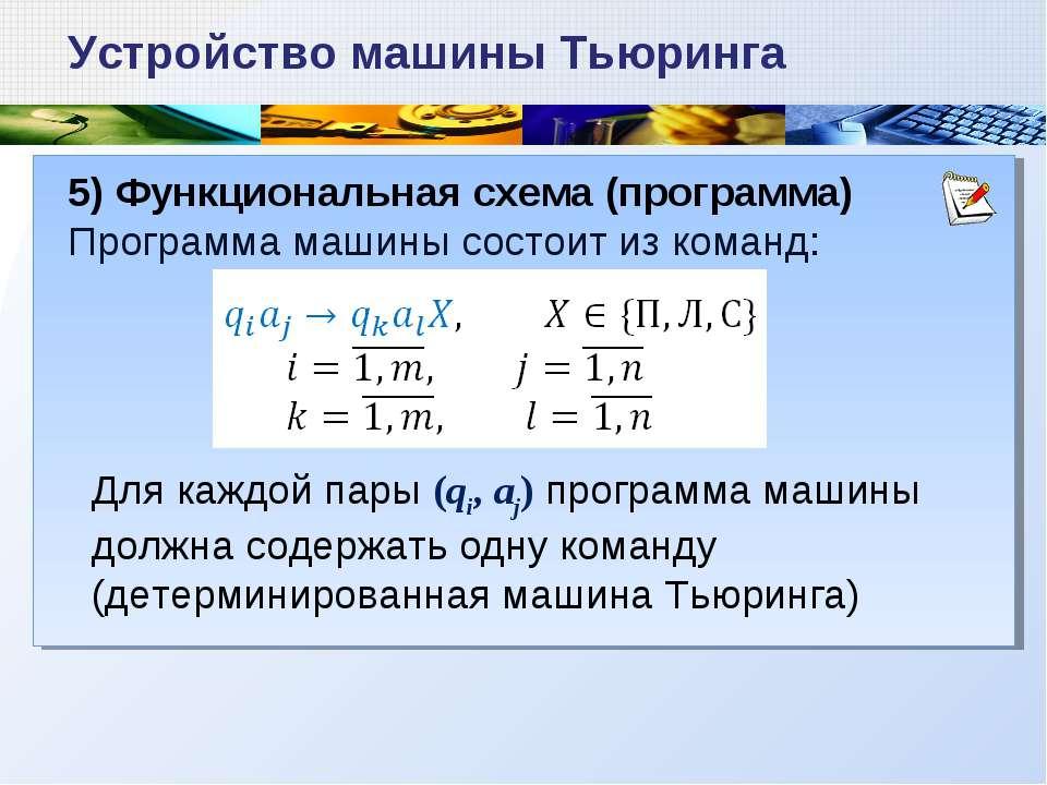 5) Функциональная схема
