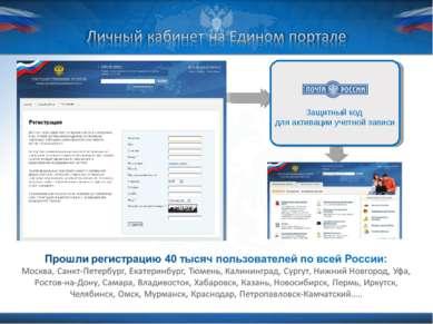 Защитный код для активации учетной записи Министерство связи и массовых комму...