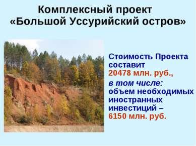 Стоимость Проекта составит 20478 млн. руб., в том числе: объем необходимых ин...