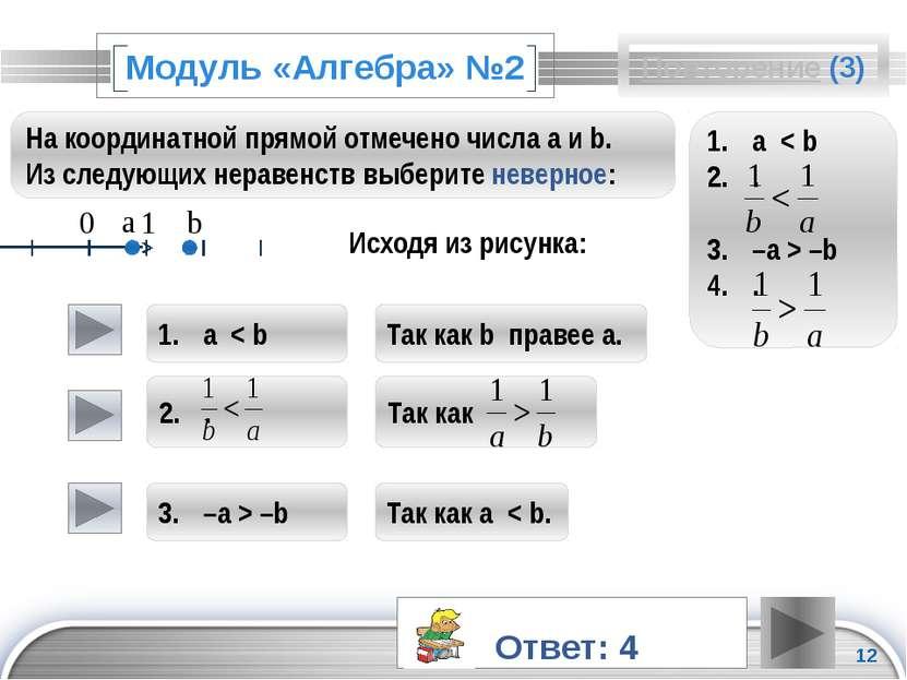 Повторение (подсказка) а и –а – противоположные числа. Если данное число поло...