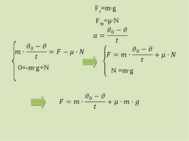 Fт=m·g Fтр=μ·N 0=-m·g+N N =m·g