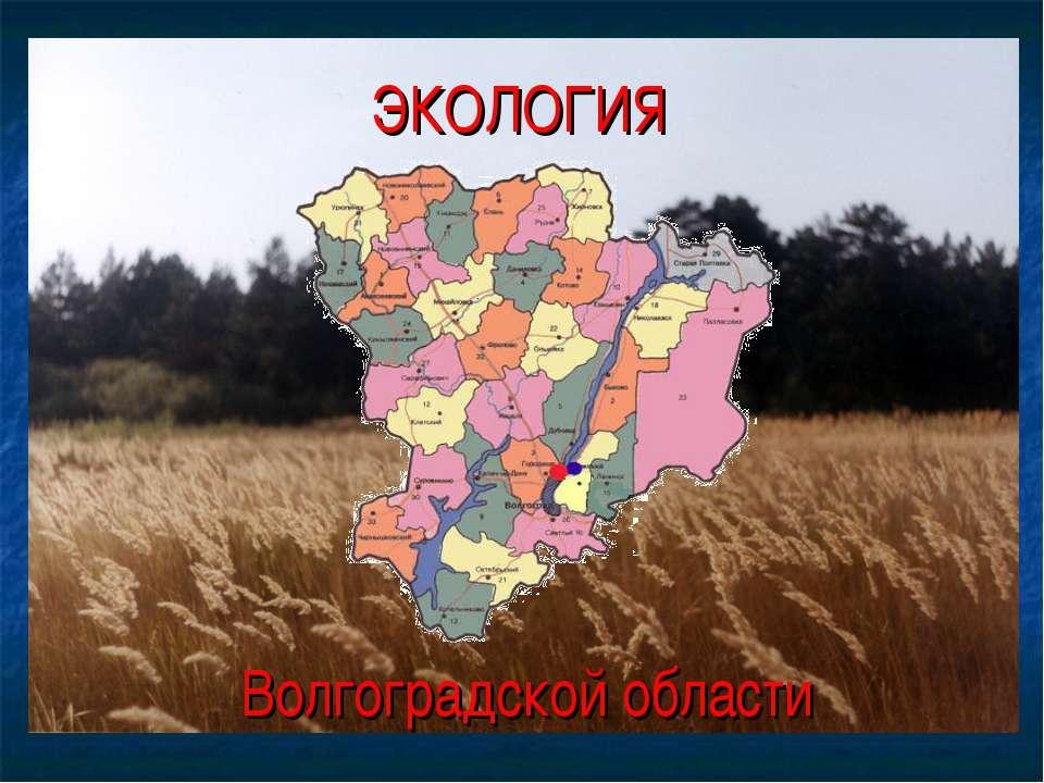 ЭКОЛОГИЯ Волгоградской области