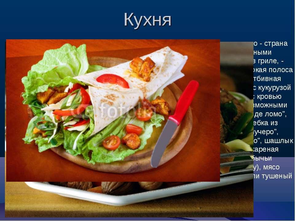 Кухня Визитной карточкой Аргентины является говядина, что и неудивительно - с...