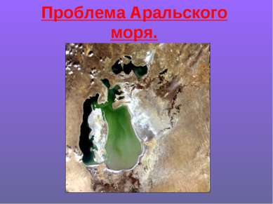 Проблема Аральского моря.