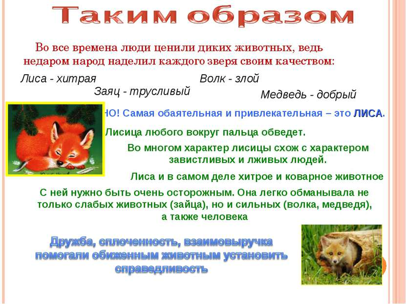 Во все времена люди ценили диких животных, ведь недаром народ наделил каждого...