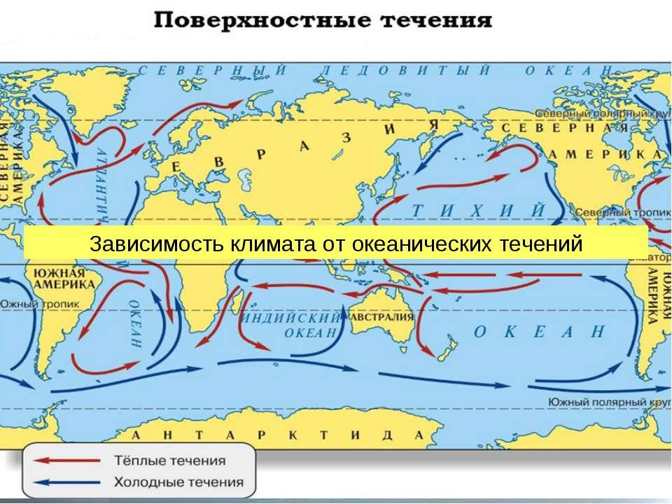 Зависимость климата от океанических течений
