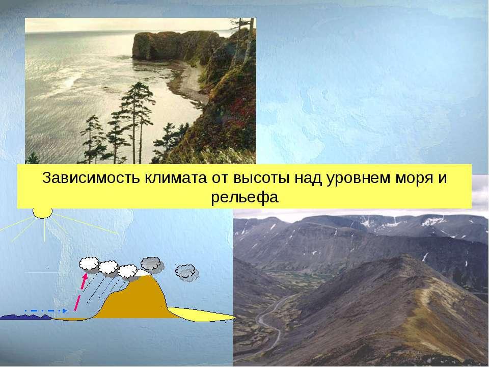 Зависимость климата от высоты над уровнем моря и рельефа
