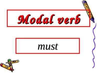 Modal verb must