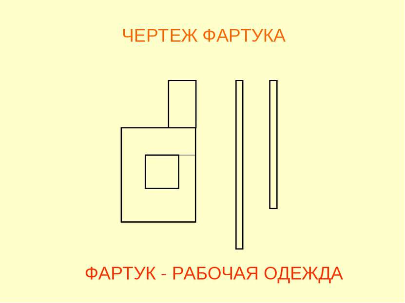 ЧЕРТЕЖ ФАРТУКА ФАРТУК - РАБОЧАЯ ОДЕЖДА