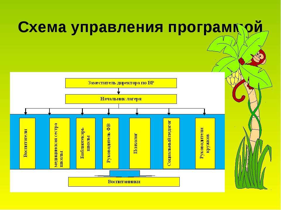 Схема управления программой