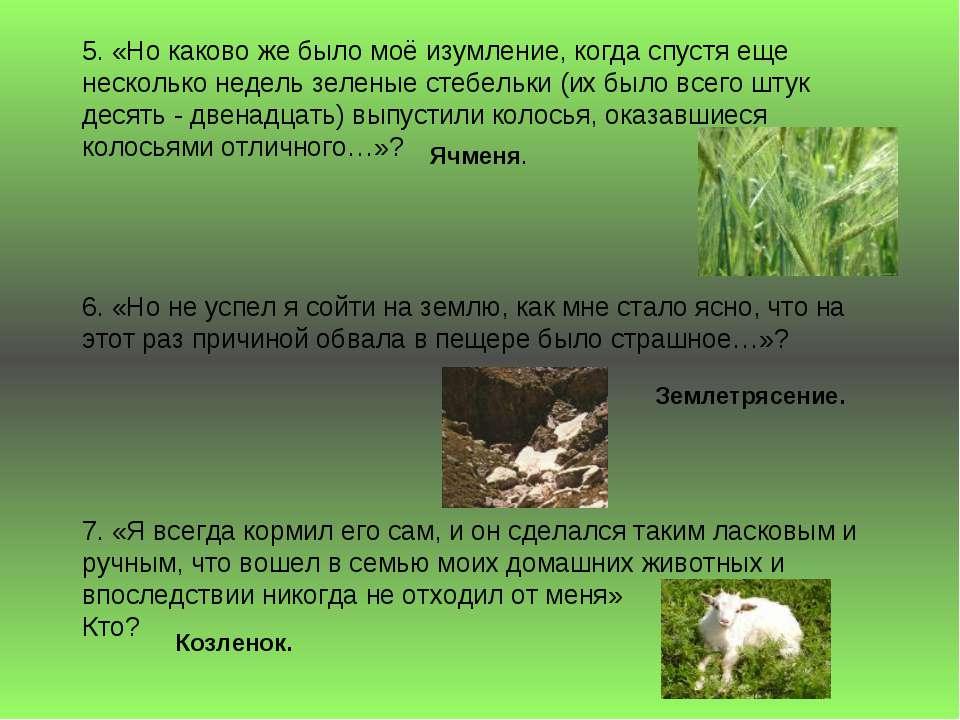 5. «Но каково же было моё изумление, когда спустя еще несколько недель зелены...