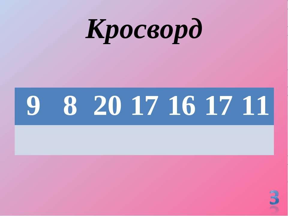Кросворд 9 8 20 17 16 17 11