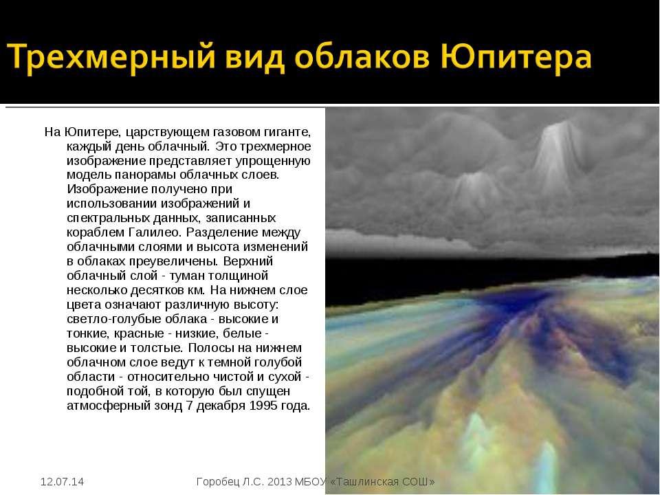 На Юпитере, царствующем газовом гиганте, каждый день облачный. Это трехмерное...