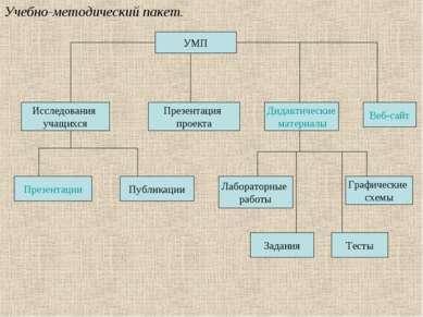 Учебно-методический пакет. УМП Исследования учащихся Презентация проекта Дида...