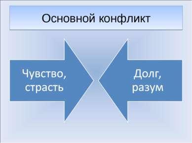 Основной конфликт