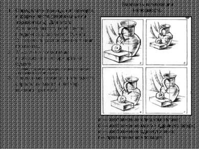 Определите границы натюрморта и форму листа (вертикаль или горизонталь). Для ...