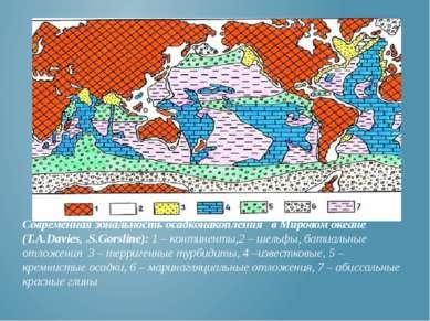 Современная зональность осадконакопления в Мировом океане (T.A.Davies, .S.Gor...